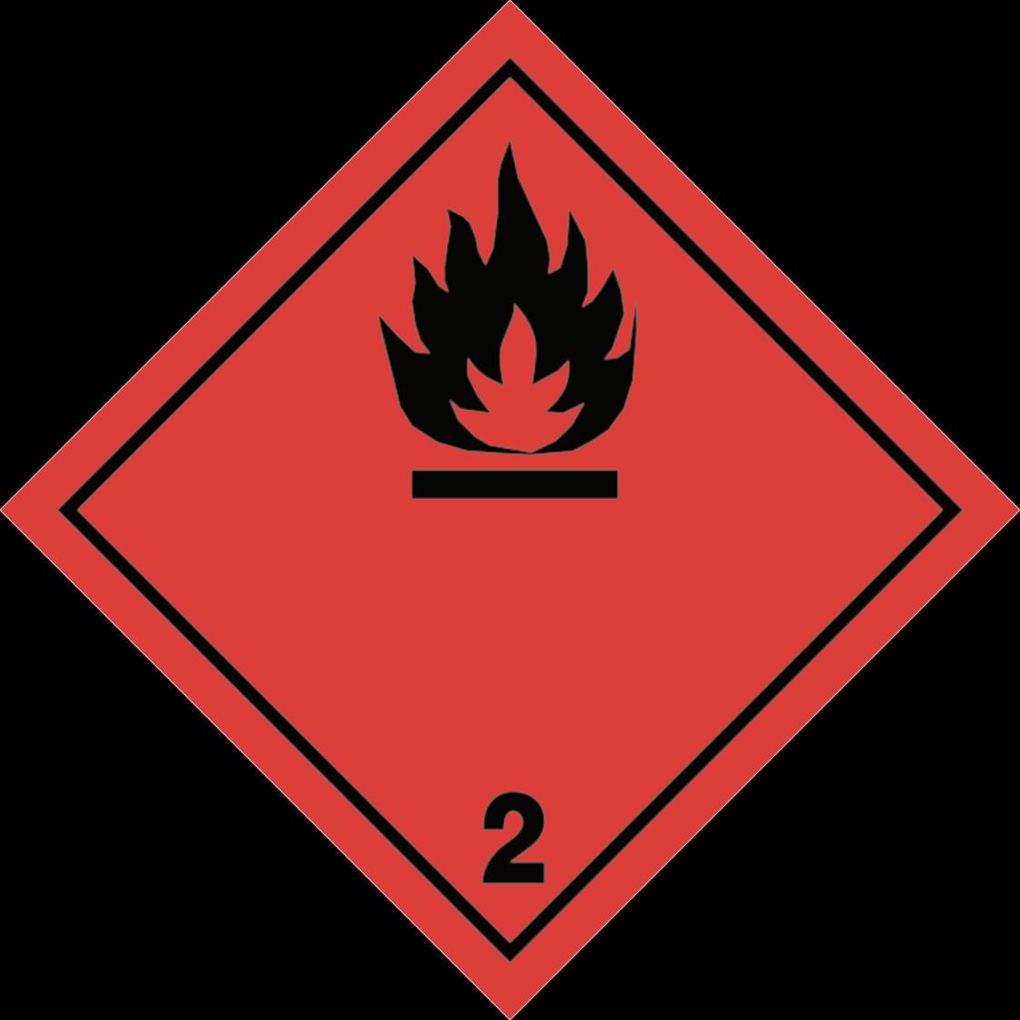 kergestisüttivate gaaside märgis