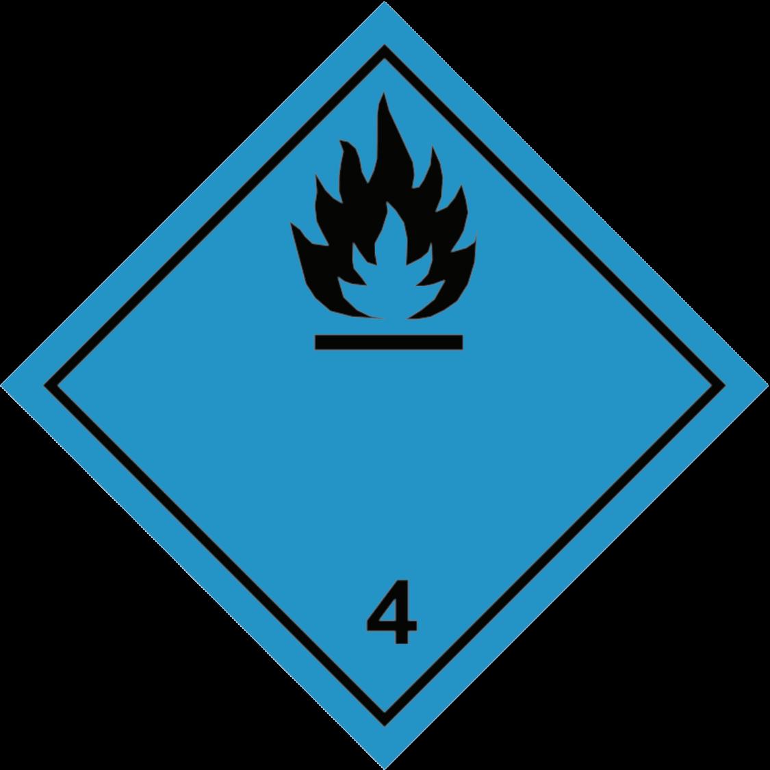 Veega kokkupuutel tuleohtlikke gaase eritavate ainete märgis